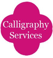 Nationwide Wedding Calligraphy Custom Handwritten