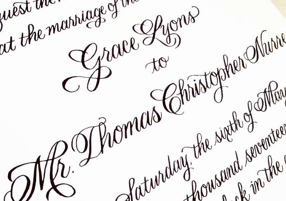 Recent Calligraphy: Calligraphy Invitation Underway