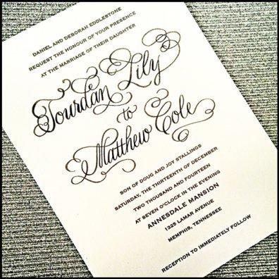 Custom Wedding Invitations From Calligraphy By Jennifer