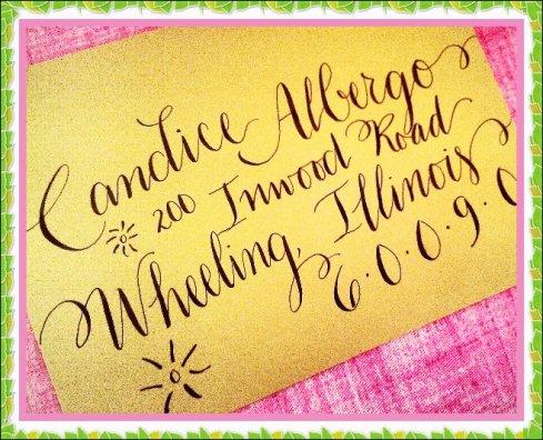 Custom Calligraphyenvelopes Shipped Nationwide
