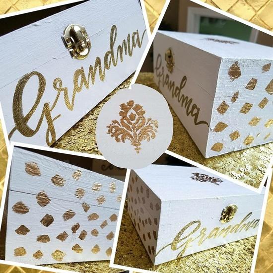 Custom Calligraphy Hand Painted Box