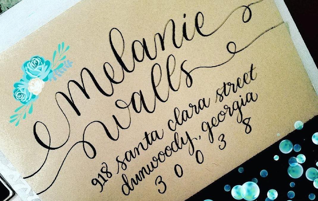 Custom Calligraphy Envelope Font