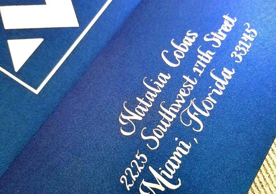 Bat Mitzvah Calligraphy Envelopes
