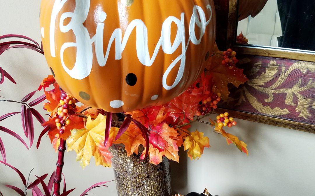 Calligraphy Fall Pumpkins