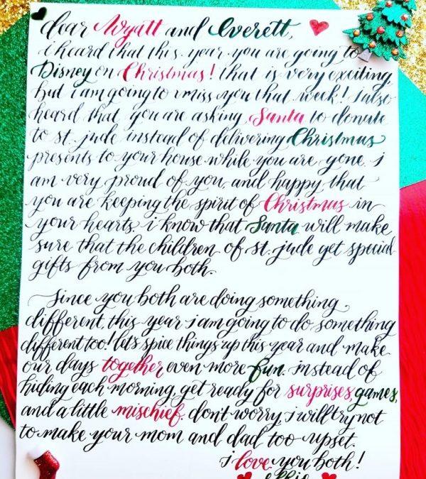 Christmas Calligraphy Santa Letter